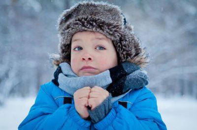 Ребенок на холоде