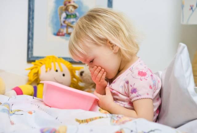 У ребенка болит живот и рвота