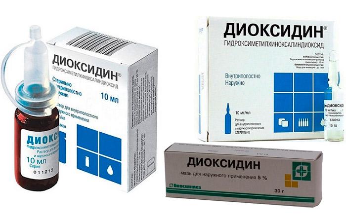 Формы выпуска Диоксидина