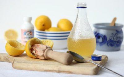 Мед и лимон от кашля с глицерином