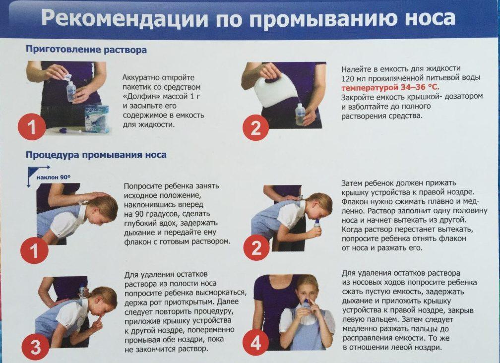 Рекомендации по промыванию носа