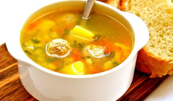 Суп с фрикадельками из индейки: рецепт