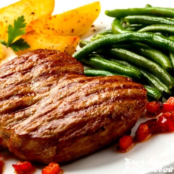 Мясо жареное