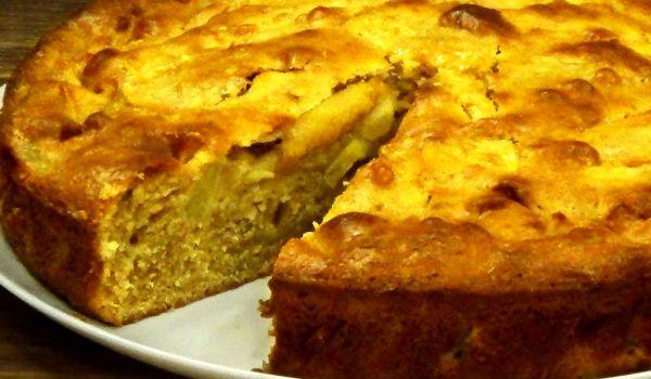 Вкусный пирог с яблоками в духовке